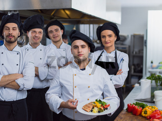 Portrait of group chefs