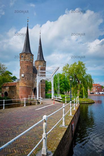 Oostport (Eastern Gate) of Delft. Delft, Netherlands