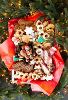 Delicious assortment of Christmas cookies and ginger bread
