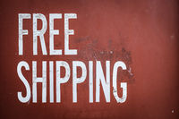 Grungy Free Shipping Sign