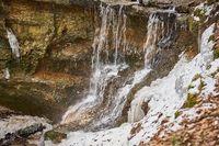 Ringing Waterfall, Huettenbach Gorge, Nuremberg Land, Franconia, Bavaria
