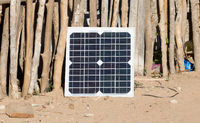 Small solar panel in Madagascar
