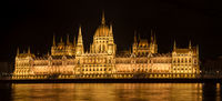 Hungarian Parliament Building at night, Budapest, Hungary