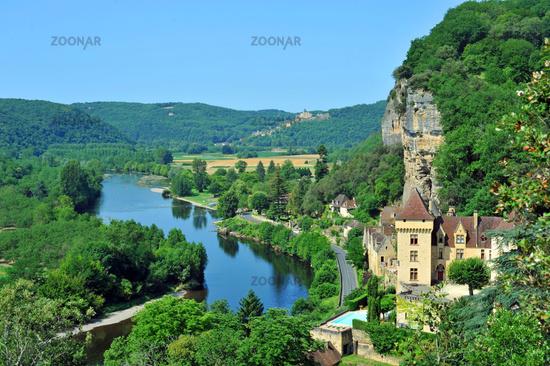 La Roque-Gageac in the Dordogne in France