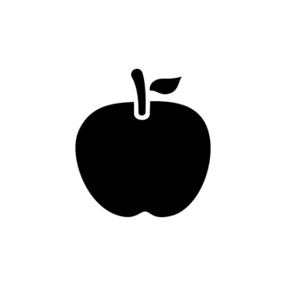 Apple. Isolated icon. Fall fruits and food vector illustration