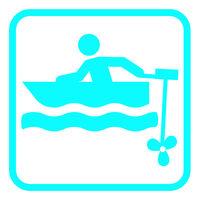 motor boat pictogram