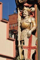 Sculpture of St. George on the Münsterplatz in Freiburg im Breisgau