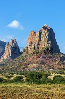 Gheralta Sandstein Gebirgskette, Tigray, Äthiopien