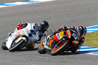 Marquez and Rodriguez  pilot of Moto2