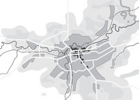 Map of The City. Navigation Tourist Guide, Route Urban Chart, Geographical Location.
