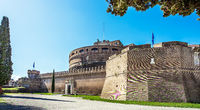 View of the Castel Sant'Angelo in Rome Lazio Italy