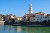 Duomo Cathedral of Santa Maria Matricolare in Verona city