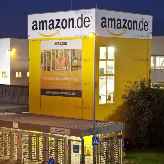 Amazon Logistics Center, twilight, Rheinberg, North Rhine-Westphalia, Germany, Europe