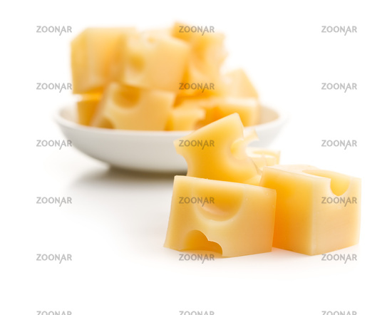 The cheese cubes.