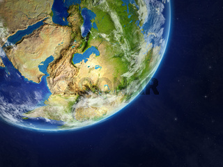 Asia on Earth from space