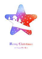 Merry Christmas rainbow winter card