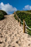 Beach access North Sea