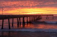 Fiery Sunset over Pacifica Municipal Pier.