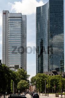 Hochhaus im Frankfurter bankenviertel