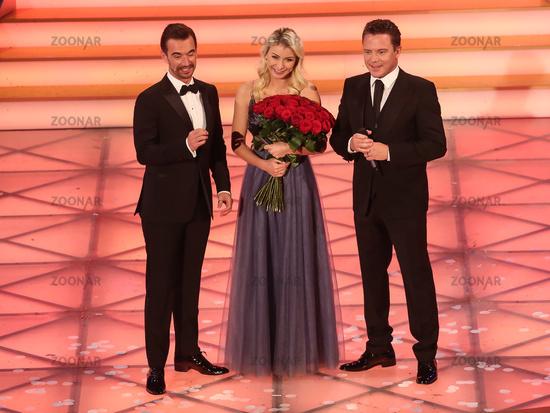 Florian Silbereisen,Stefan Mross and Anna-Carina Woitschack Adventfestival 100000 lights 30.11.19