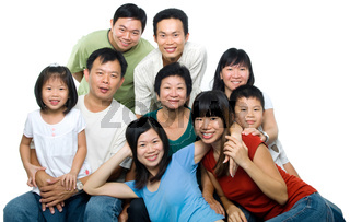 Big Asian family