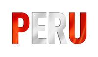 peruvian flag text font