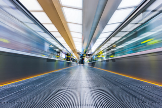 Moving walkway at airport