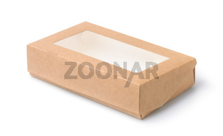 Kraft paper box with transparent window