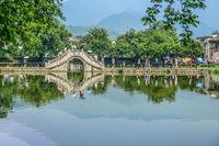 Hongcun village, Unesco site, Huangshan, Anhui Provice, China,Jun 15 2014 : view of Hongcun village, Hweichow, China