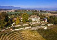 Chateau de Vullierens, Vullierens Castle, Vullierens, Canton of Vaud, Switzerland
