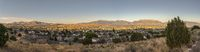 Beautiful panorama of Utah valley with houses
