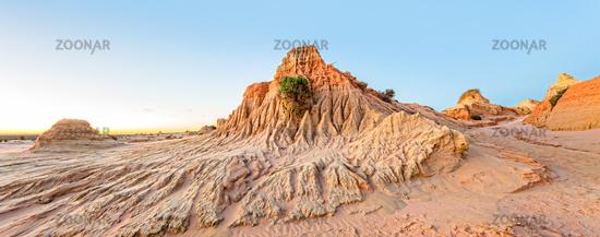 Desert landforms scenic panorama
