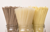 Pasta from different varieties of wheat and different colors.