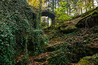Stone bridge in the Katzenbach valley near Bad Niedernau, Baden Württemberg, Germany,