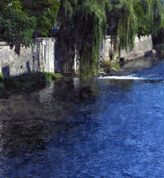 Watercolor river