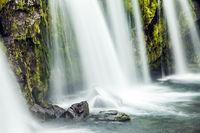 Powerful waterfalls Kirkjoufellfoss