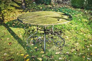 alter Tisch im Garten | old table in the garden