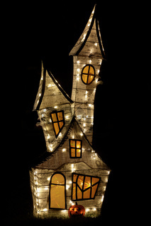 Haunted House Décor for Halloween Lights Up.