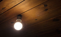 Light bulb from the ceiling