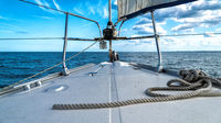 bow of a sailing yacht