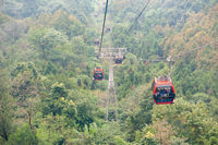 Cable car in QingCheng moutain China