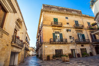 In the old town of Lecce Apulia Italy