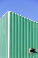 Wall of a Garage, sheet metal plating