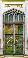 An old beautiful window in Bucharest, Romania. Old and historic window in Bucharest, Romania
