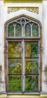 An old beautiful window in Bucharest, Romania. Old and historic window in Bucharest, Romania