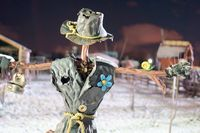 homemade stuffed, a Scarecrow made of metal