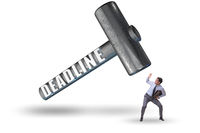 Businessman failing to meet the deadline