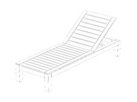 3d model of sun lounger