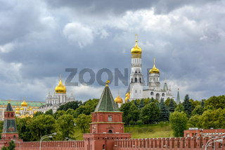 Walls and gardens of the Kremlin