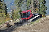 Specialized mountain bulldozer on the hillside